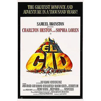 El Cid-Film-Plakat-Druck (27 x 40)