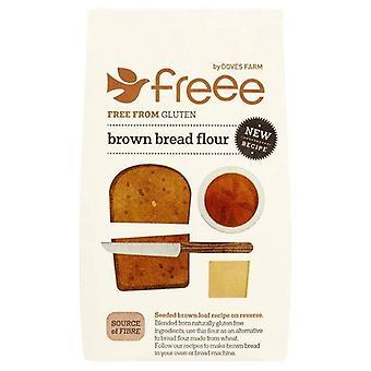 Doves Farm GF Farina di pane marrone 1kg x5