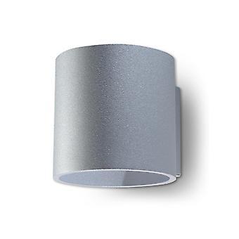 Orbis Grå Aluminium Væg Lys 1 Pære