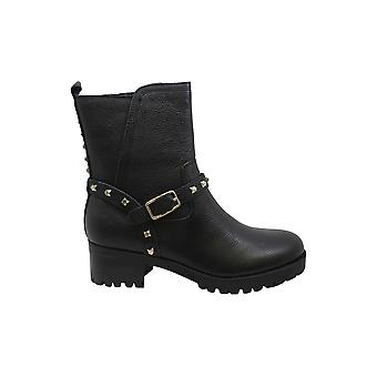 Nine West Womens Renee Leather Round Toe Ankle Fashion Boots