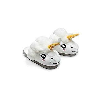 Weiße Einhorn Hausschuhe für Erwachsene. Warm und bequem !
