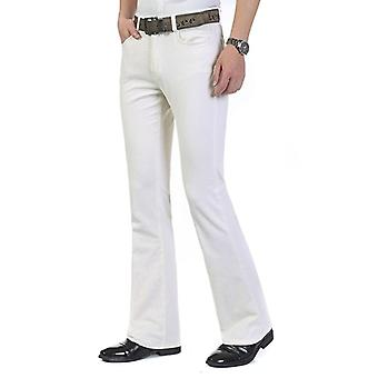Spring Autumn Men's Smart Casual Corduroy Pants, Flares Mid Waist Bell-bottom