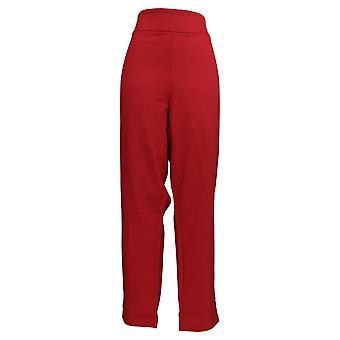 Linea de Louis Dell'Olio Women's Plus Pants Slim Leg Red A298446