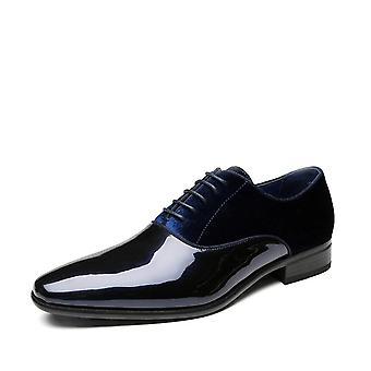 Módní kancelářská obuv vysoce kvalitní patentovaná kůže pohodlné formální obuvi