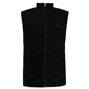 Фила Менс Gilet Bodywarmer Руанс Waistcoat Цип Топ Черный U89672 001 X41B