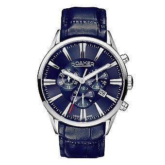 Roamer 508837 41 40 05 Blue Superior Chronograph Wristwatch