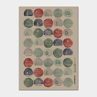 East of India Christmas Kraft Hand Drawn stickers Single Sheet 40 Stickers Xmas Craft
