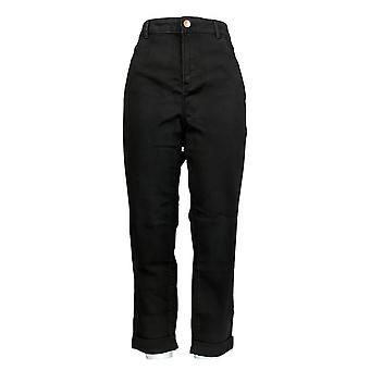 ロゴ バイ ロリ ゴールドスタイン 女性&アポス;s ジーンズ 5 ポケット ストレート レッグ ブラック A354559
