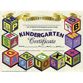 """Kindergarten Certificate, 8.5"""" X 11"""", Pack Of 30 H-Va501"""