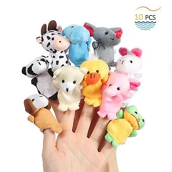 Twister.ck finger puppets for easter, baby story time props, 10 pcs hand puppets set rabbit animal s