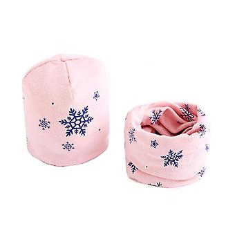 Plush Hat Scarf Set, Stars Neck Collar, Cotton