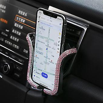 Univerzální držák telefonu s bling crystal drahokamu auto větrací hoře