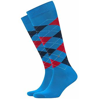 Burlington Manchester Knee High Socks - Blue/Navy/Red