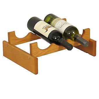 Legno Mallet 3 Bottiglia Dakota Wine Rack, Rovere Medio