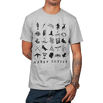 Harry Potter Unisex Voksen Harry Potter Ikoner T-skjorte