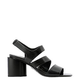 Halmanera Doris25nero Women's Black Leather Sandals