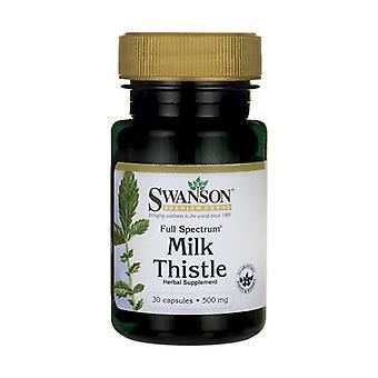 Full Spectrum Milk Thistle, 500mg 30 capsules