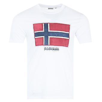 Napapijri Sirol Short Sleeve T-Shirt - White
