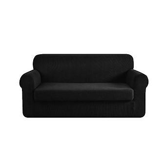 2-osainen sohvakansi Joustava venyvä sohvan suojukset Suoja musta