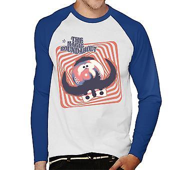 De Magic Roundabout Zebedee Psychedelic Lines Men's Baseball T-Shirt met lange mouwen
