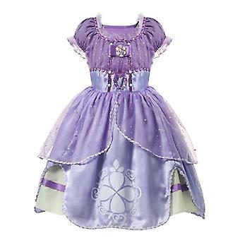 Letné princezná šaty, Elsa Anna šaty detské oblečenie