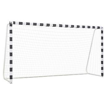 Fußballtor 300x160x90 cm Metall Schwarz Weiß