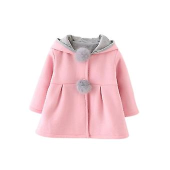 Baby Coat, Winter Baby Princess Coat Jacket Ear Hoodie