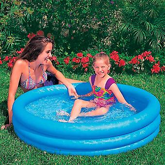 Intex 3 Ring Crystal Paddling Pool Blue 114x25cm (45x10 Inches)