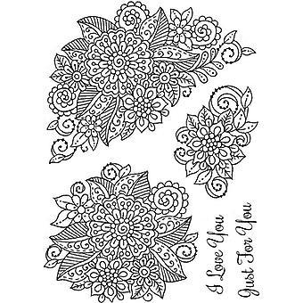 Sweet Dixie Stamp Set - Fantasy Floral Motifs