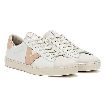 Victoria Berlin Contrast Leather Womens White / Pink Trainers