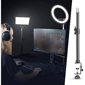 HanFei Tisch Lichtstativ Klammer mit Stativ mit 1/4 Zoll Schraube fr Ringlicht und LED Licht