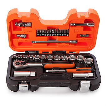 Bahco S330 33 kpl Socket Set 1/4 tuumaa ja 3/8 tuuman neliö levy