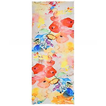 Ahujasons Poppy Print Linen Blend Szalik