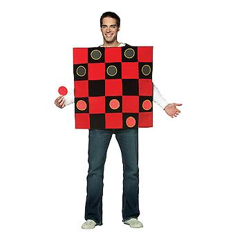Mens Draughts Game Novelty Funny Fancy Dress Costume