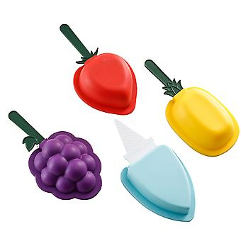 Popsicle Molds Set Of 4, Ice Pop Molds Silicone
