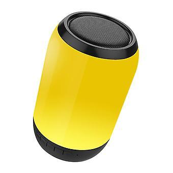 المحمولة الملونة LED الخفيفة اللاسلكية بلوتوث المتكلم HiFi FM راديو TF بطاقة مزدوجة باس Subwoo