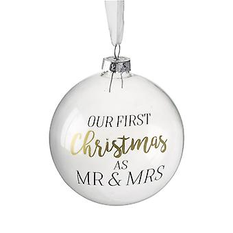 Heaven Sends Mr & Mrs First Christmas Bauble