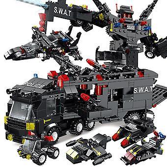 Polizei Roboter Stadt Polizeistation Bausteine