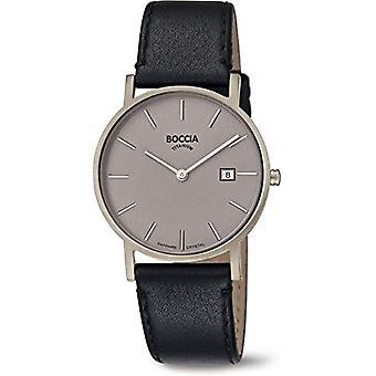 Boccia Analogueico Watch Quartz Men with Leather Strap 404TT363701