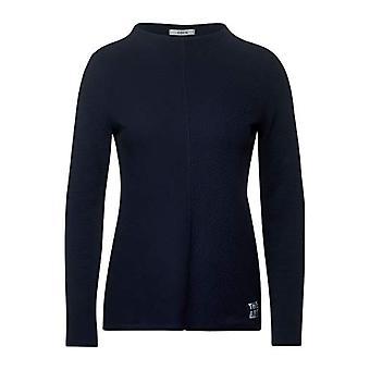 Cecil 315476 T-Shirt, Deep Blue, XS Woman