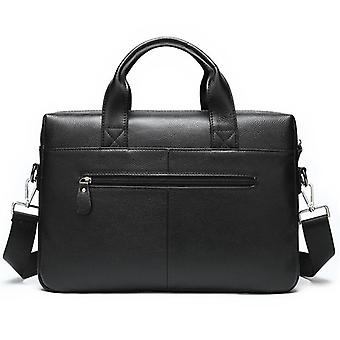 حقيبة جلدية الرجال حقائب حقيبة كمبيوتر محمول أسود