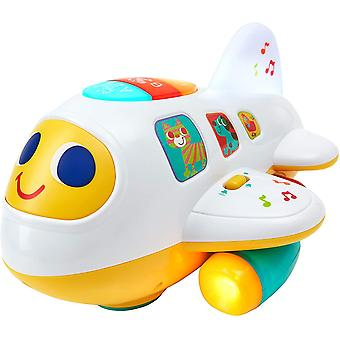 FengChun Electronic Musical Airplane Toys, Electric Educational Toy with Lights Sounds and Music,