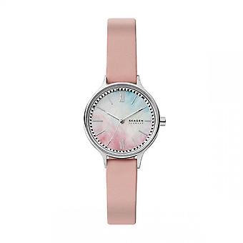 Naisten kello Skagen kellot SKW2976 - Vaaleanpunainen nahkahihna