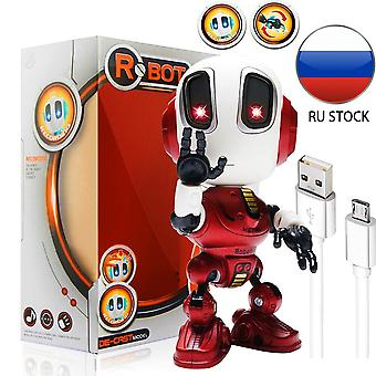 Charging Robots Toys Mini Talking Toy For Children Humanoid Robot Toy Inductive|RC Robot(Red)