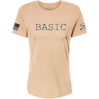 Grunt Style Damski chylić fit podstawowy t-shirt - Tan