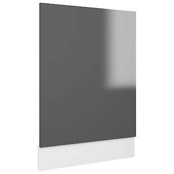 vidaXL Vaatwasser hoes Hoogglans grijs 45x3x67 cm Spaanplaat