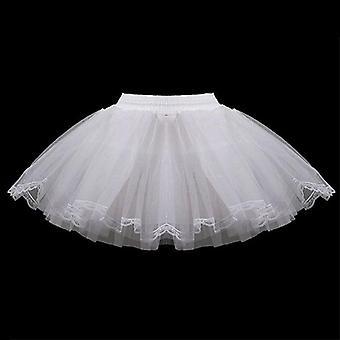 Children 3 Layers Hoopless Short Petticoats Flower Dress