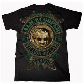 Alice Cooper Billion Dollar Baby Crest Mens T Shirt: Larg