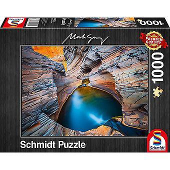 Schmidt Mark Gray: Indigo Jigsaw Puzzle - 1000 Pieces