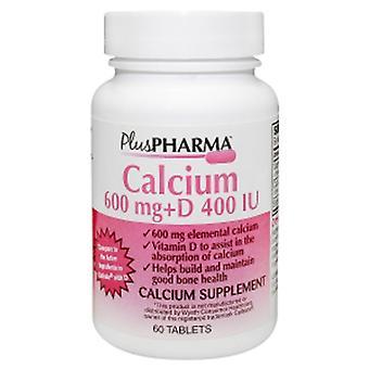 Plus Pharma Calcium + VitaminD, 600 mg, 60 Count